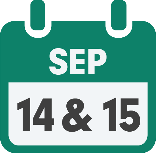 Calendar Image -Save the Date - September 14 and 15